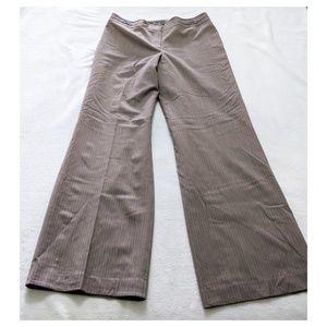 ANN TAYLOR Pinstripe Mocha Pants Size 8 NWT